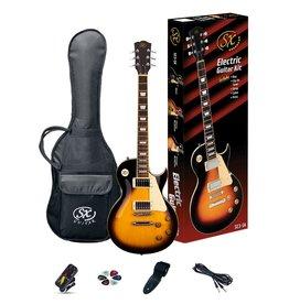 SX LP Style Electric Guitar Pack, Vintage Sunburst