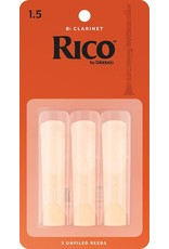 Rico Rico Bb Clarinet Reeds 1.5 (3 Pack)