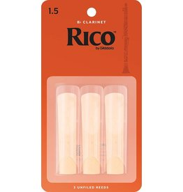 Rico Rico Bb Clarinet Reeds 1.5 (3 Pack)