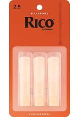 Rico Rico Bb Clarinet Reeds 2.5 (3 Pack)