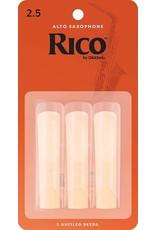 Rico Rico Alto Sax Reeds 2.5 (3 Pack )