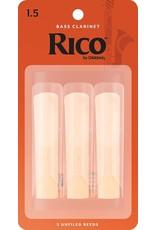 Rico Rico Bass Clarinet Reeds 1.5 (3 Pack)