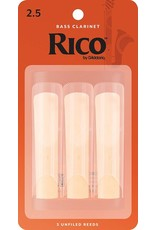 Rico Rico Bass Clarinet Reeds 2.5 (3 Pack)