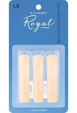 Rico Rico Royal Bb Clarinet Reeds 1.5 (3 Pack)