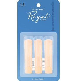 Rico Royal Bb Clarinet Reeds 1.5 (3 Pack)