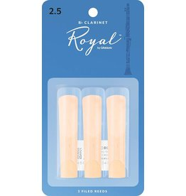 Rico Royal Clarinet Reeds 2.5 (3 Pack)