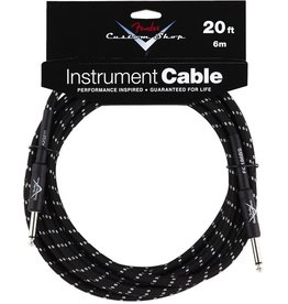 Fender Custom Shop Black Tweed Cable 20ft