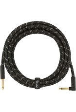 Fender Deluxe 15ft Black Tweed Cable