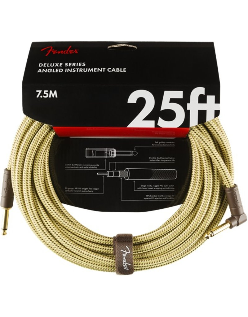 Fender Deluxe 15ft Tweed Cable