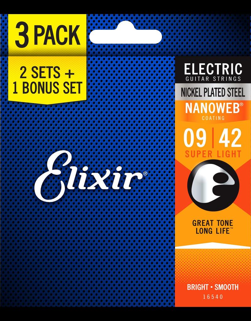 Elixir Elixir Nanoweb Electric 9-42 (3 Sets)