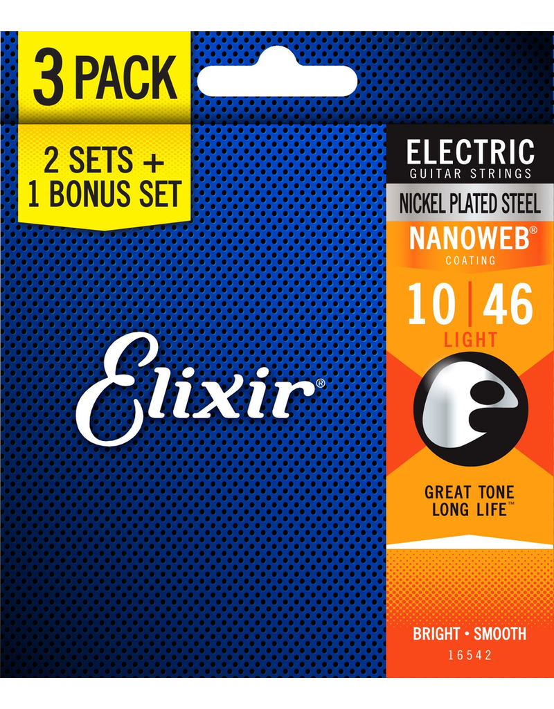 Elixir Elixir Nanoweb Electric 10-46 (3 Sets)