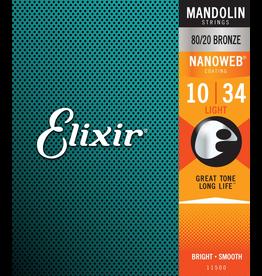 Elixir Nanoweb 80/20 Mandolin 10-34
