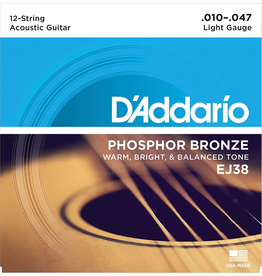 Daddario 12 String Light, 10-47