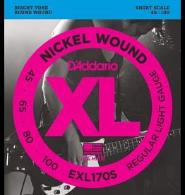 Daddario EXL170S Short Scale 45-100