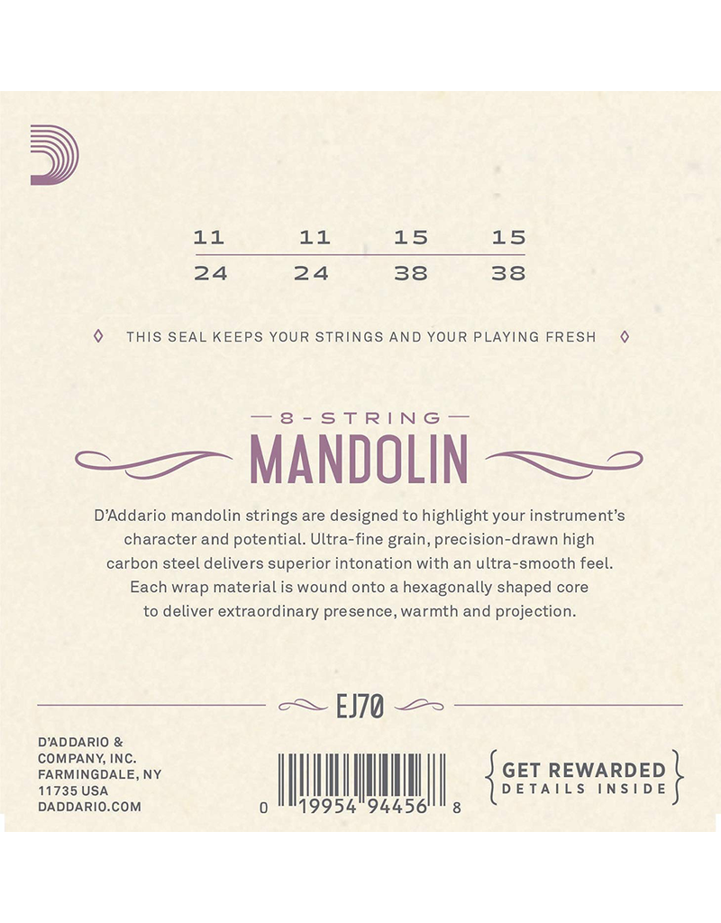 Daddario Daddario EJ70 PB Mandolin Strings, 11-38