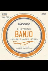 DAddario EJ61NY Banjo Strings, 10-23