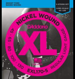 Daddario EXL170 5 String Set, 45-130
