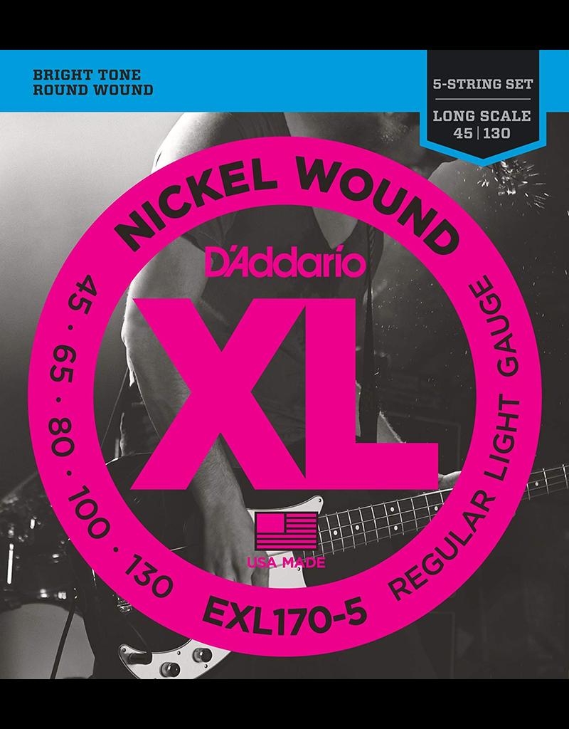 Daddario Daddario EXL170 5 String Set, 45-130