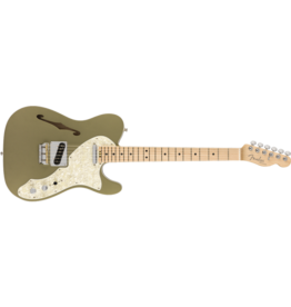 Fender American Elite Telecaster Thinline, Satin Jade Pearl Metallic