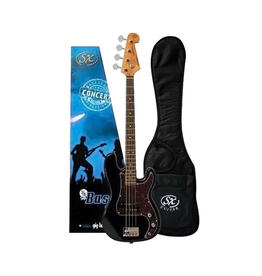 SX Left-Handed 3/4 Bass Pack, Black