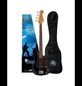 SX Left-Handed 3/4 Bass Pack, Black