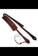 DSL Leather Ukulele Strap Maroon