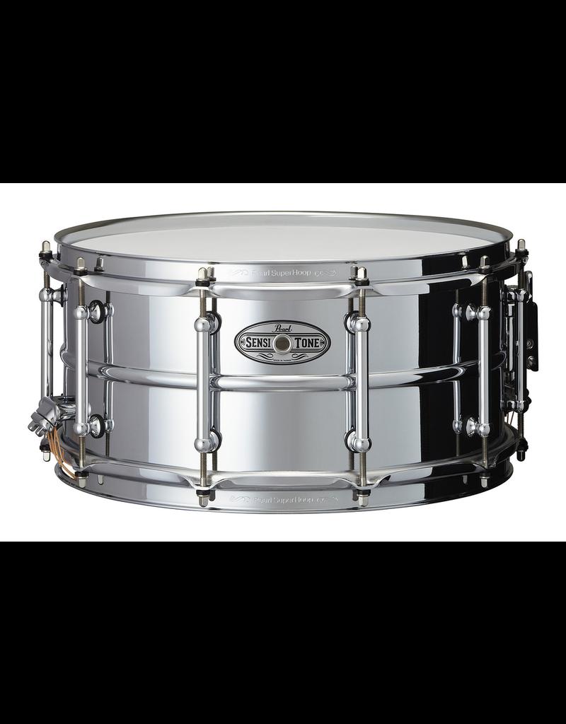 "Pearl Pearl SensiTone Beeded Steel Snare 14"" x 6.5"""
