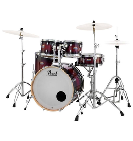 Pearl Decade Maple Fusion + Deep Red Burst