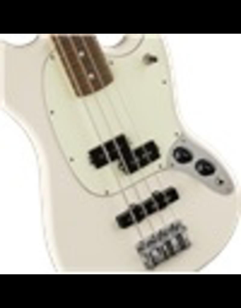 Fender Mustang Bass PJ, Pau Ferro Fingerboard, Olympic White