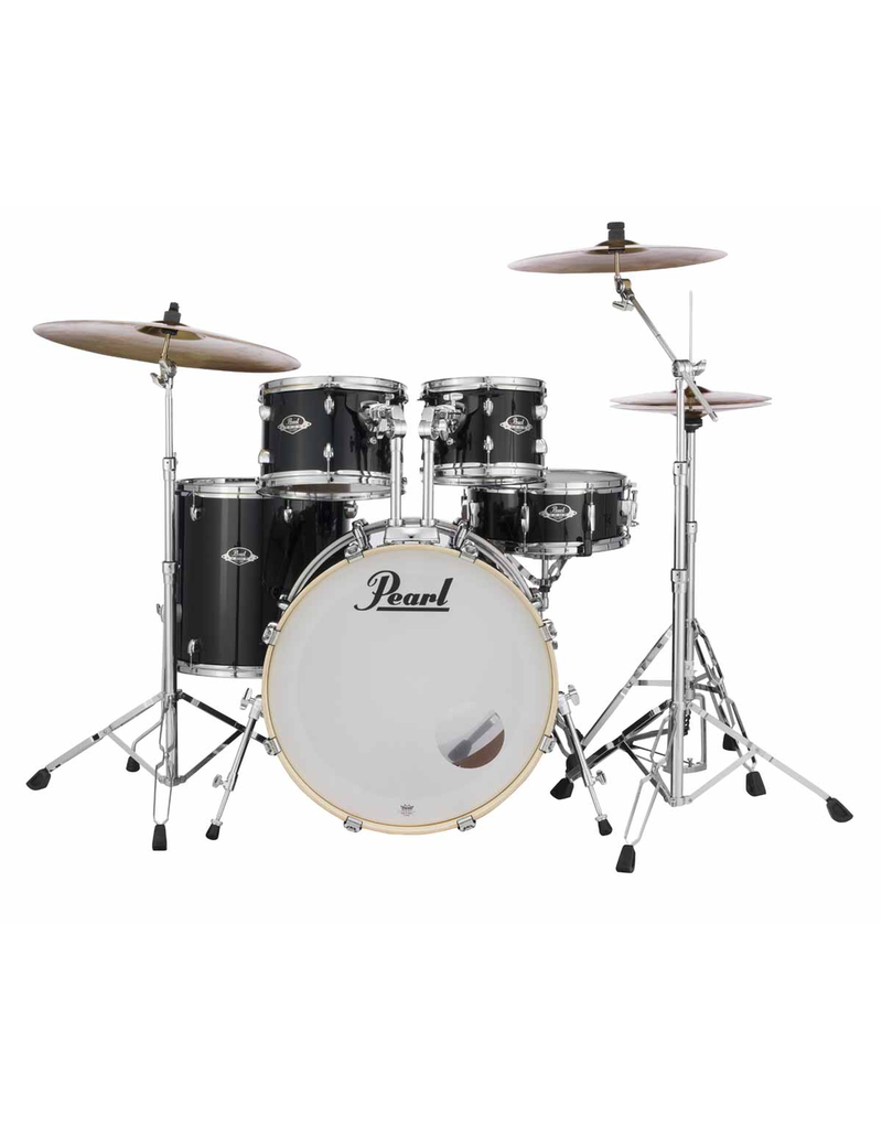 """Pearl Export Black 22"""" Fusion+ Drumset"""