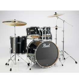 "Pearl Pearl Export Laquer Black Smoke 22"" Fusion+ Drumset"