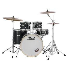 "Pearl Pearl Export Black 22"" Fusion+ Drumset"