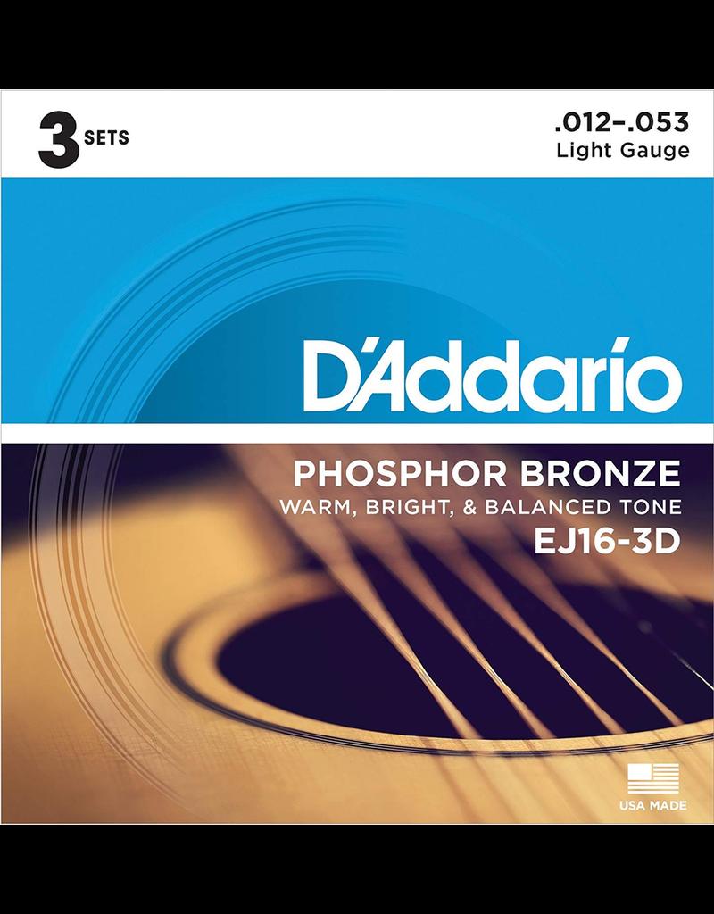 Daddario Daddario Ej16 3-D Pk3 12-53