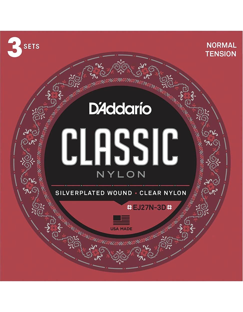 Daddario Daddario 3 Pack Daddario Nylon Classical Normal