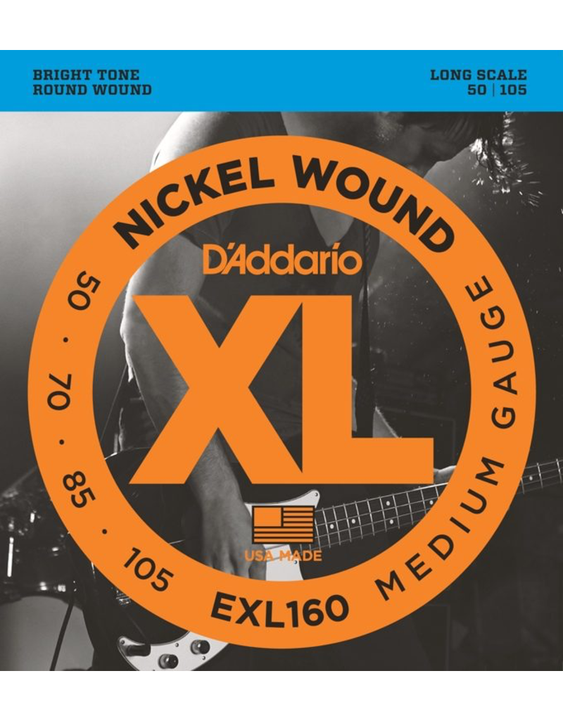Daddario Daddario EXL160 Medium, 50-105 medium scale