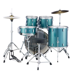 """Pearl Pearl Roadshow-X 20"""" Fusion Drum Kit Aqua Blue Glitter"""