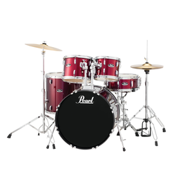 "Pearl Pearl Roadshow-X 20"" Fusion Drum Kit Red Wine"