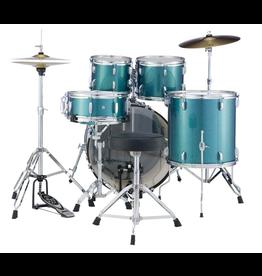 """Pearl Pearl Roadshow-X 22"""" Fusion Plus Drum Kit Aqua Blue Glitter"""