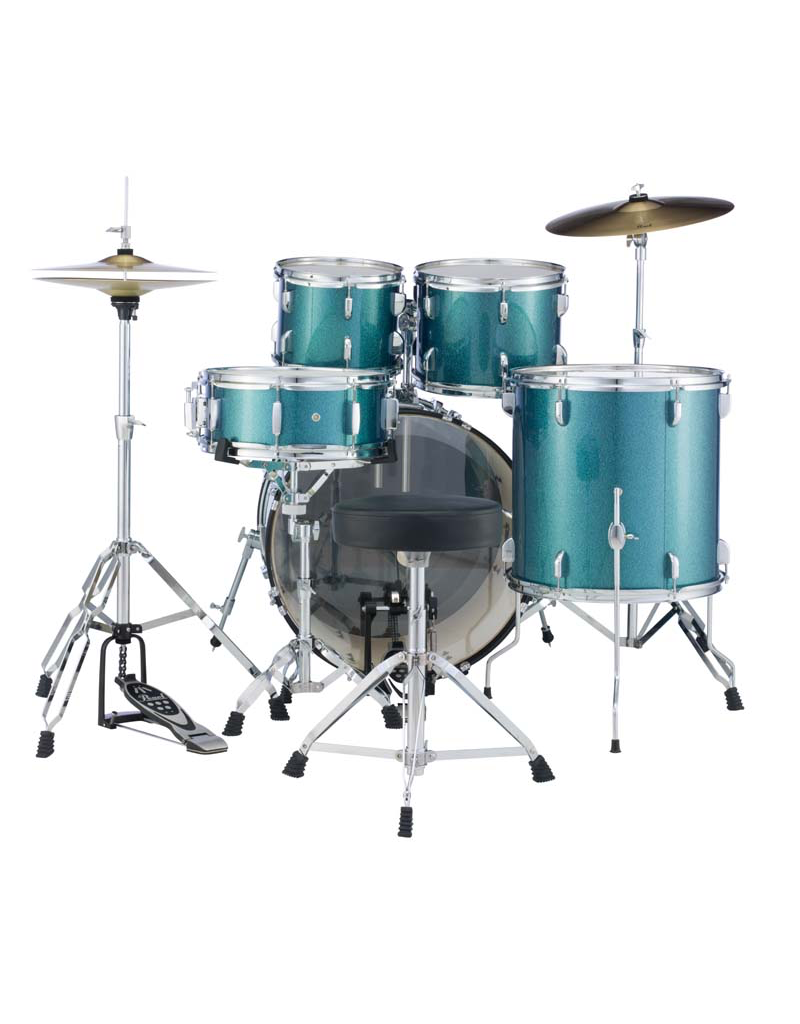 "Pearl Pearl Roadshow 18"" 4-Pcs Drum Kit Aqua Blue Glitter"