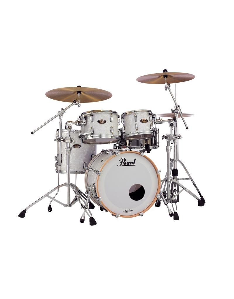 Pearl Masters Maple/Gum 4 Piece Shell Pack Matte White Marine