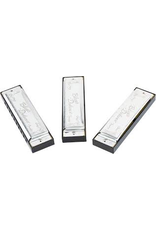 Fender Fender Blues Deluxe Harmonica Set (C, G, A) - Silver