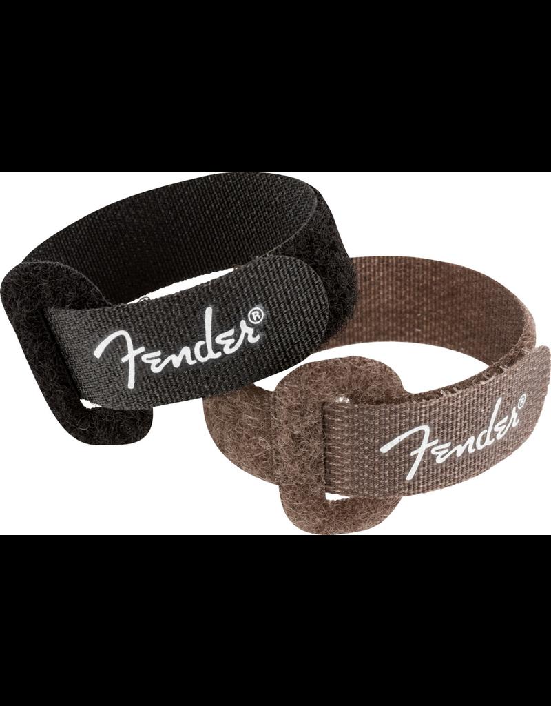 "Fender Fender Cable Ties, 7"", Black and Brown"