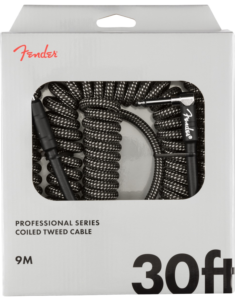 Fender Fender Professional Coil Cable, 30', Gray Tweed