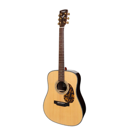 Saga Saga DS20 Solid Spruce Top Acoustic-Electric Dreadnought Guitar (Natural Gloss)
