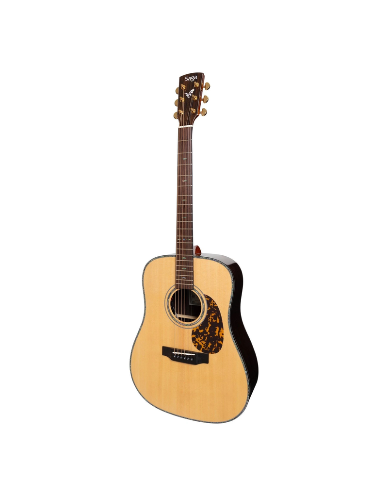 Saga Saga DS20 Solid Spruce Top Acoustic-Electric Dreadnought Guitar (Natural Gloss)