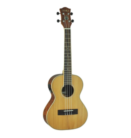 TIKI Tiki '7 Series' Cedar Solid Top Electric Tenor Ukulele with Hard Case (Natural Satin)