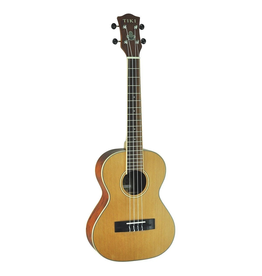TIKI Tiki '7 Series' Cedar Solid Top Tenor Ukulele with Hard Case (Natural Satin)