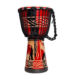 "Drumfire 'Majestic Series' 8"" Natural Hide Traditional Rope Djembe (Red)"