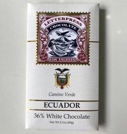 Letterpress Letterpress Camino Verde Ecuador White Chocolate 36%