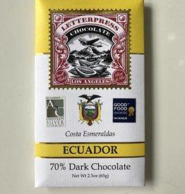 Letterpress Letterpress Costa Esmereldas Ecuador 70%